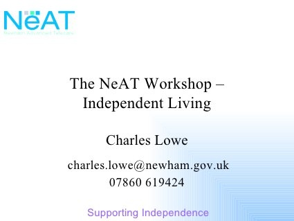 The NeAT Project in Newham by David Wilcox, via Slideshare