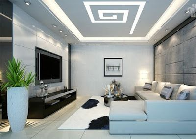 Charming Spiral POP Ceiling Design   False Ceiling Designs For Living Room