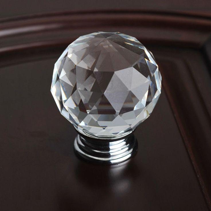 Glass Dresser Knobs Crystal Drawer Knobs Pulls Handles Sparkle Colorful Kitchen Cabinet Knobs Pull Handle Hardware