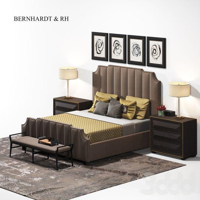 bernhardt & restoration hardware | bed set | 3D models | Pinterest ...