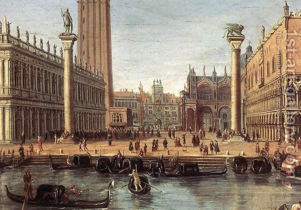 The Piazzetta from the Bacino di San Marco (detail) c. 1700 by Caspar Andriaans Van Wittel