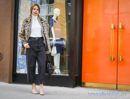 Street style Недели моды в Нью-Йорке, февраль 2017 Carolina Herrera