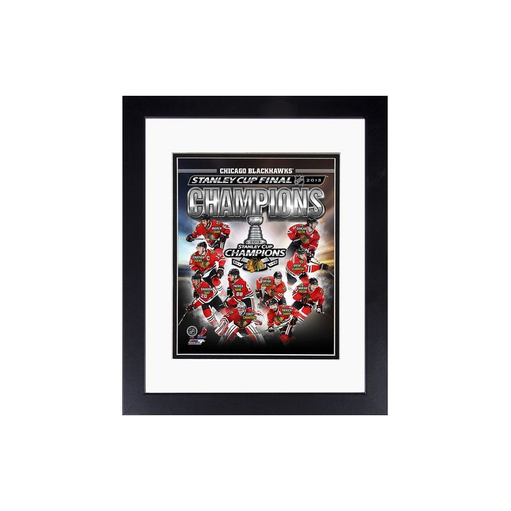 "Chicago Blackhawks 2013 Stanley Cup Champions 8"" x 10"" Framed Photo, Black"