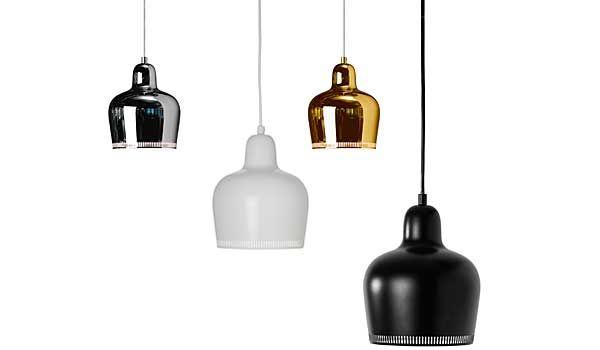 Golden Bell (A330S), hanging lamps by Alvar Aalto / Artek