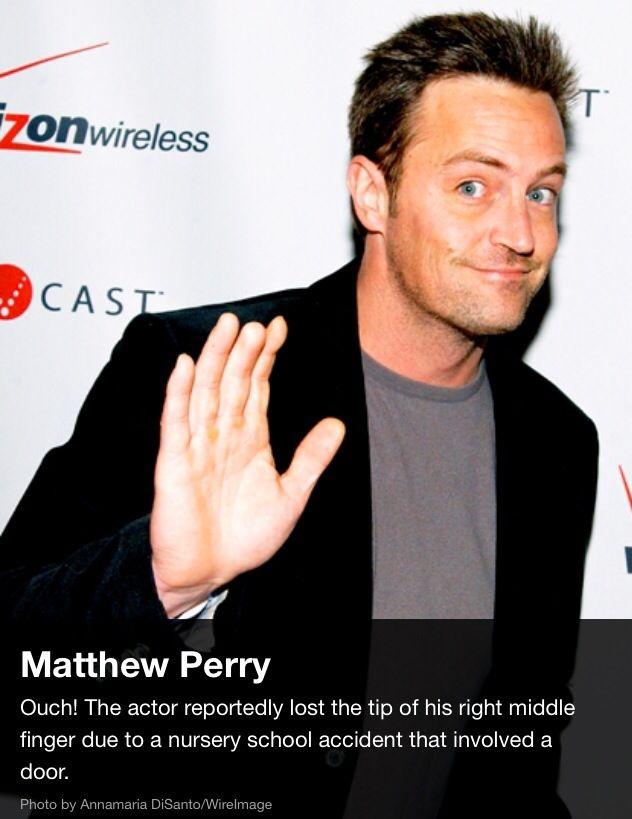 Matthew Perry's finger
