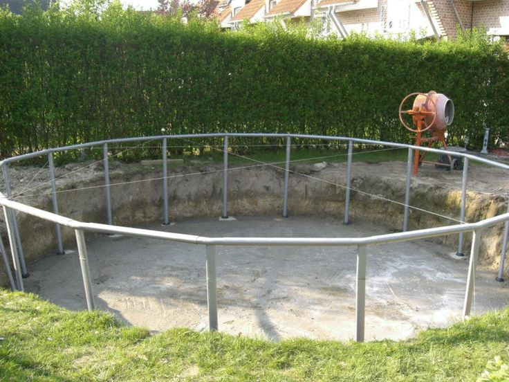 Intex Frame Pool in Erde einlassen Backyard pool