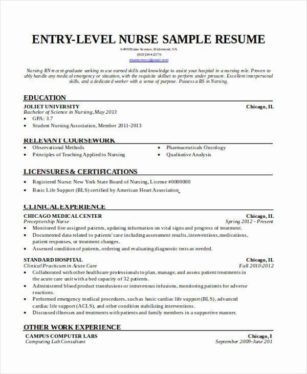 Entry Level Lpn Resume Best Of 36 Resume Format Word Pdf Lpn Resume Good Resume Examples Registered Nurse Resume