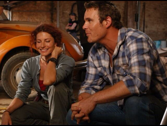Stevie & Alex . McLeods Daughters behind the scenes