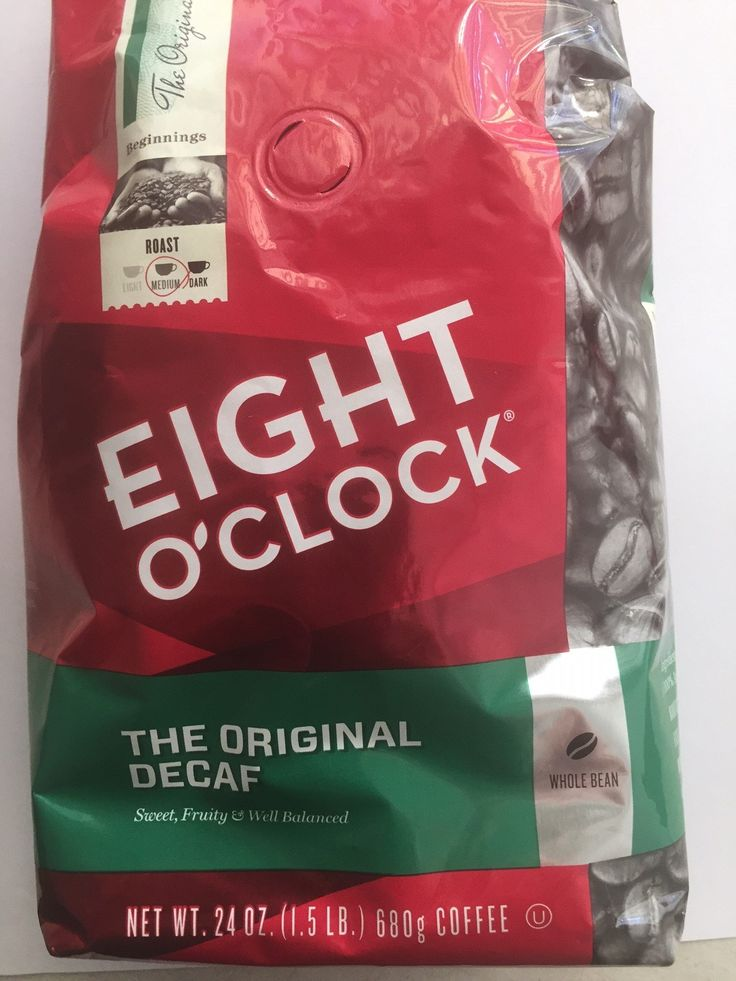 Eight O'Clock Coffee - Whole Bean - Original Decaf 24oz - ( Pack of 2 )
