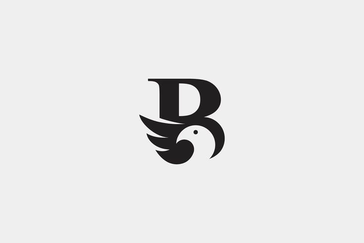 Letter B typography alphabet bird animal travel abstract illustration geometric business branding technology marketing corporate Logo design #logo #de…