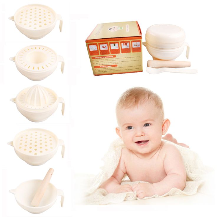 6 Pcs/Set ABS Material Baby Food Grinder masher Time-limited Baby Food Dish Mills Tools Fruit prato infantil de cocina 1020