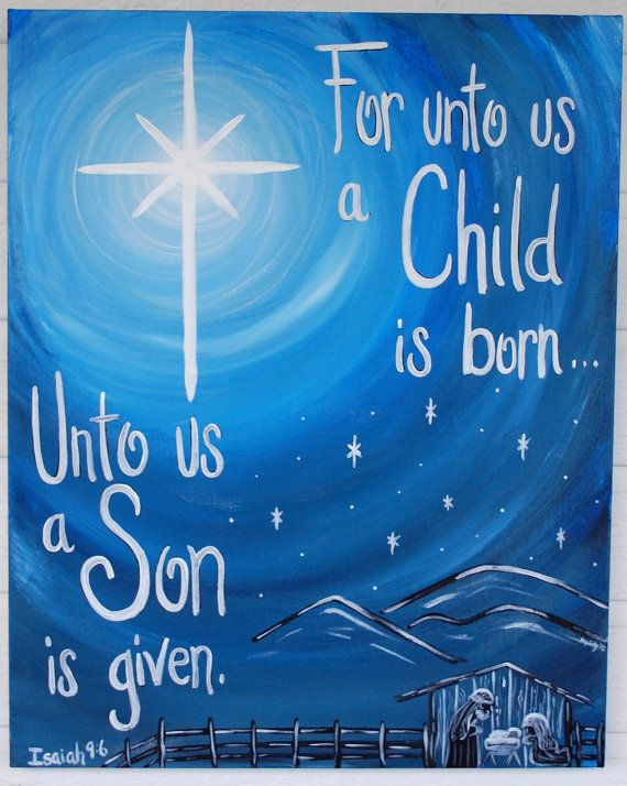 "Christmas Star Nativity Painting, ""Prophecy Fulfilled"", Custom Canvas Scripture, Bible Verse...really like this!"