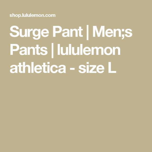 Surge Pant | Men;s Pants | lululemon athletica - size L