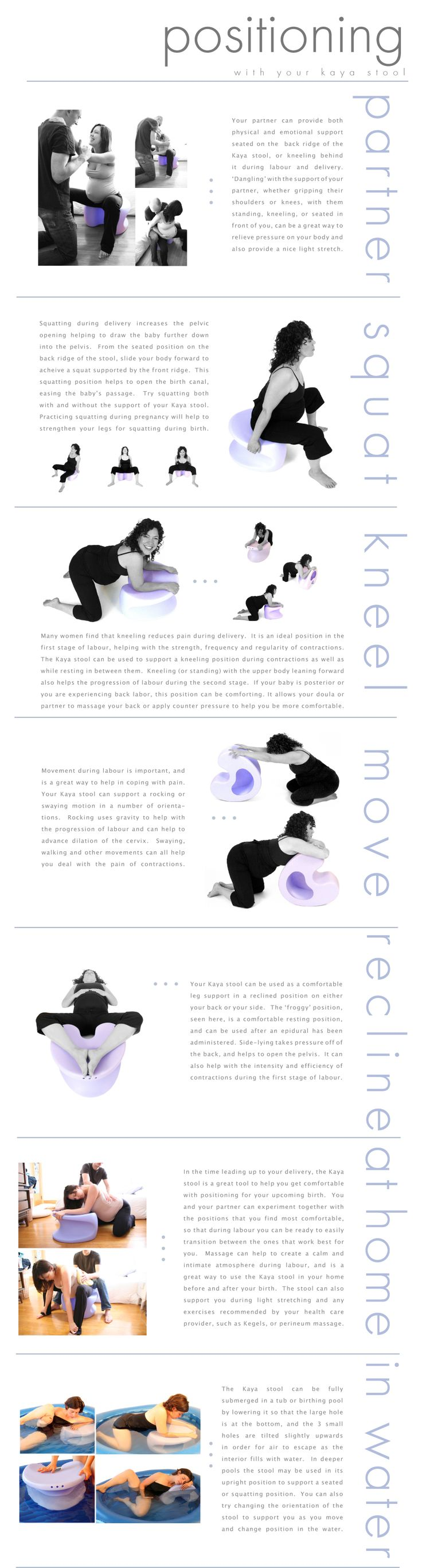 Modern birthing chair - Kaya Birthing Stool Positions Chart Whoa This Looks Amazing So Much Better Then The Silly Bouncy Ball Hated That Thing
