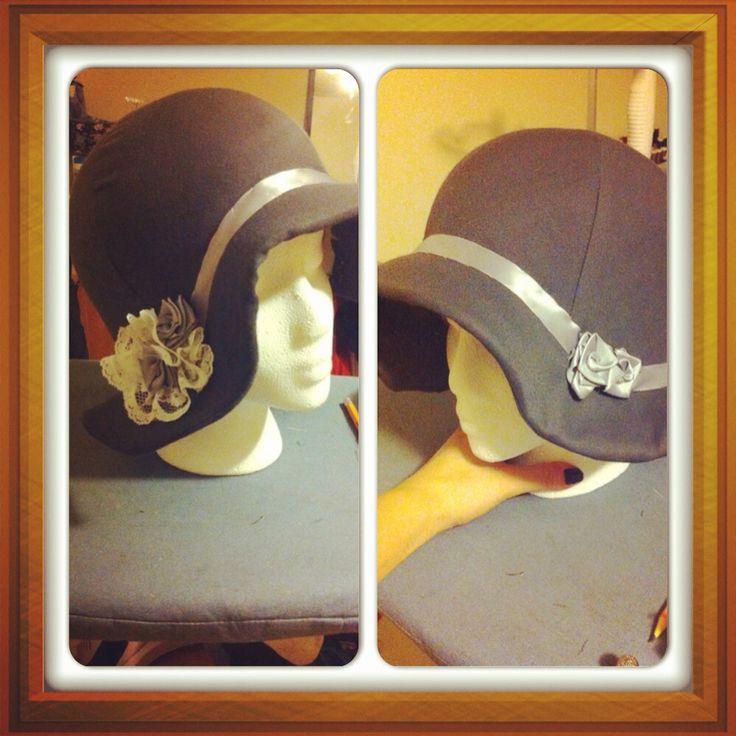 Cloche hat, stylized