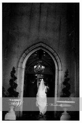Couple entering Dromoland castle for their Irish Wedding reception. Image by Woodard Photography