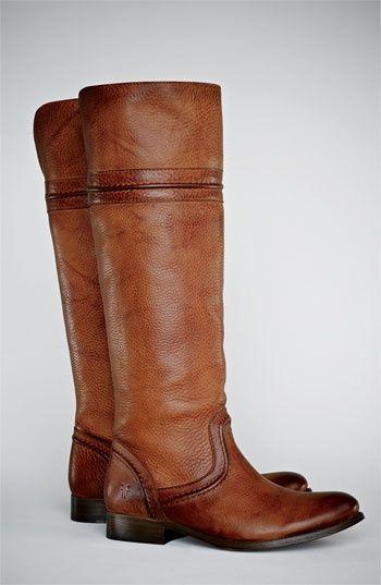 Frye 'Melissa Trapunto' knee high boots.