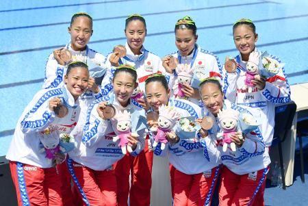 シンクロ、チームTRで日本が銅 世界水泳、大会初メダル - 静岡新聞   (2017/7/19 00:09) #静岡新聞 #飛び込み #シンクロ #世界選手権 #世界水泳 #女子