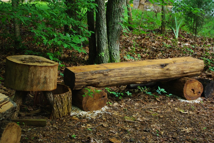 White Oak Log Bench Planed With A Router Took Me About 5 Years Seriously The Table Is A
