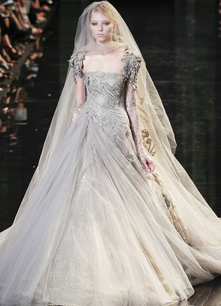 Silver Wedding Dress Ideas : 42 best grey gowns images on pinterest