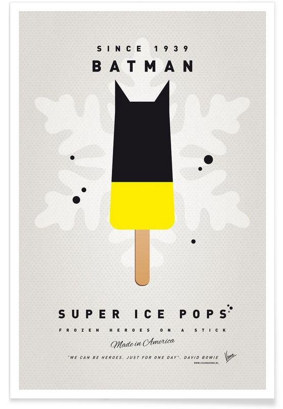 My Superhero Ice Pop - Batman als Premium Poster von Chungkong | JUNIQE