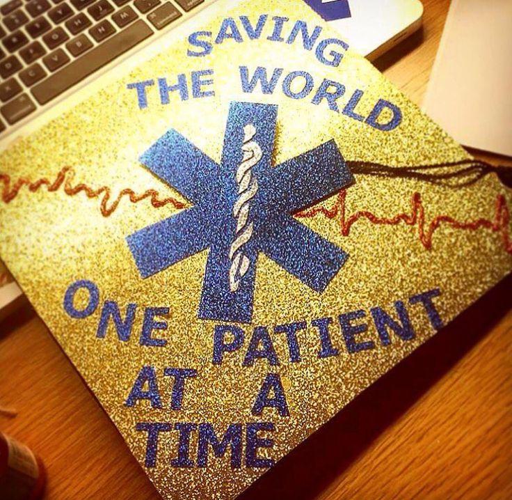 Grad cap for nurses, paramedics, EMTs