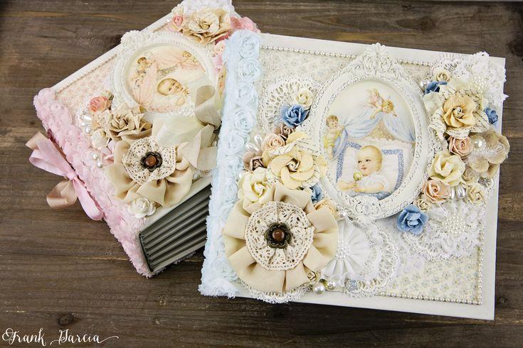 Pion Baby Albums by Frank Garcia using Memory Hardware Albums and trims. For more photos visit www.frankgarciastudio.com
