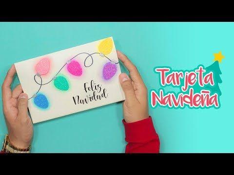 (3) DIY: Tarjeta Luces Navideñas de Gis Pastel - ESPECIAL DE NAVIDAD - YouTube
