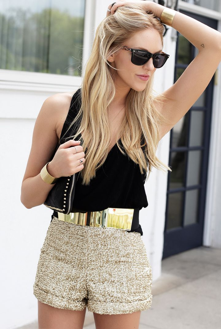 House of Wilde shorts, shirt LF Stores, sunnies Foster Grant, Maje belt, cuffs Robyn Rhodes
