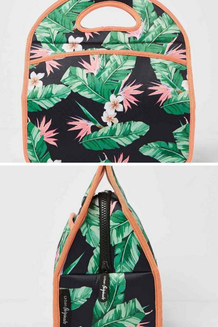 Urban Originals Starlet Lunch Bag - Floral Black