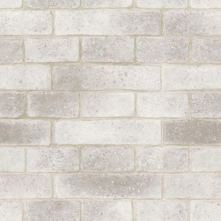 Papel de Parede Natural Bobinex Natural tijolo branco grande 1419