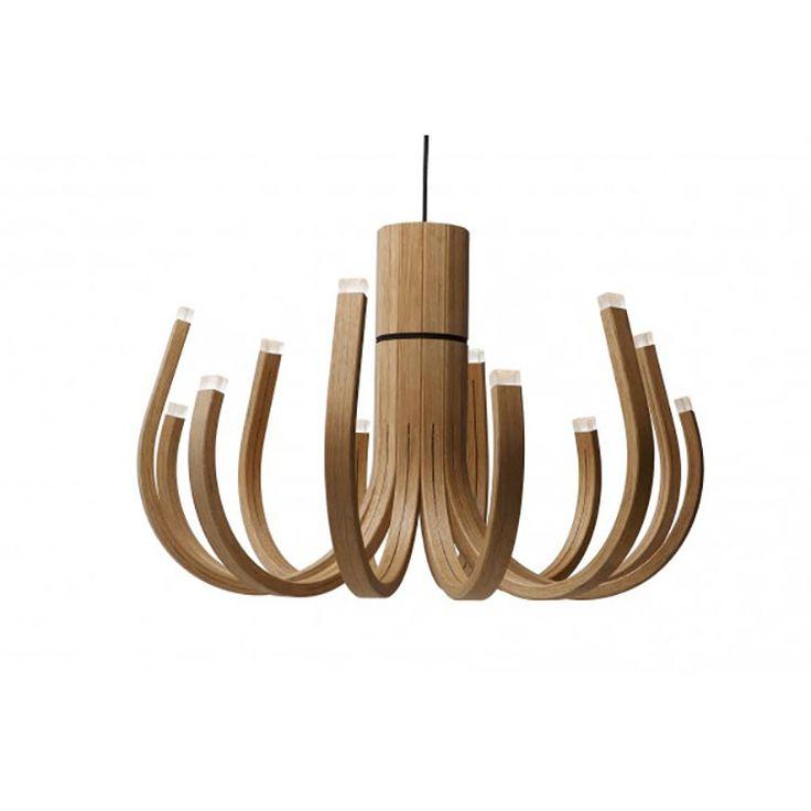 Lampadario in legno moderno 03
