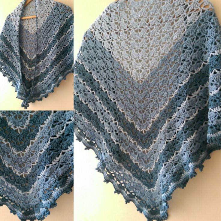 This is my version of the Southbay shawl