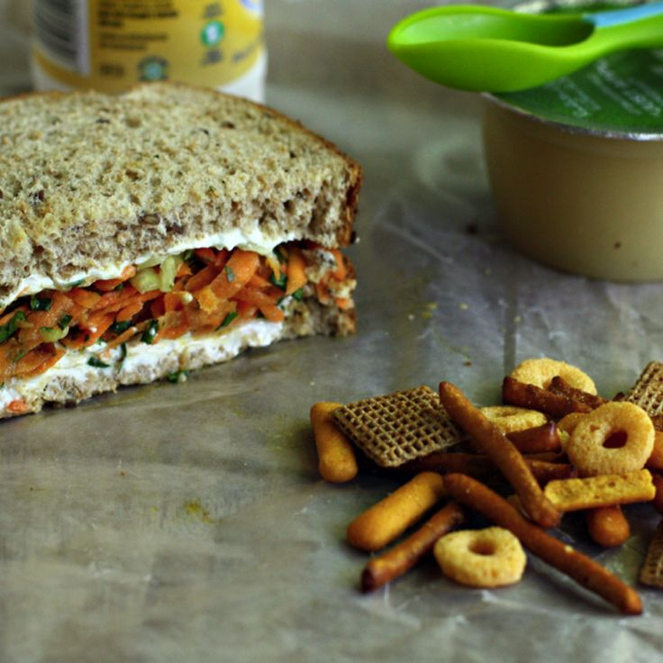 15 Nut-Free Lunch Recipes and Snacks - Carrot Salad Sandwich