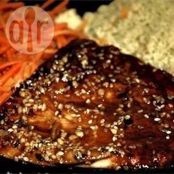 Foto de la receta: Filetes de atún en salsa teriyaki
