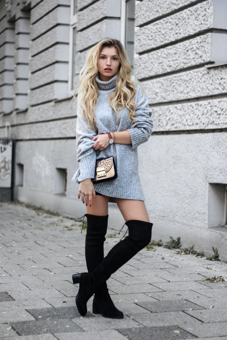 1026 best overknee boots images on pinterest over knee boots fall winter outfits and knee boots. Black Bedroom Furniture Sets. Home Design Ideas