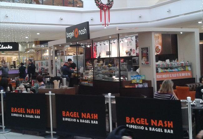 The Bagel Nash in Kingsgate Shopping Centre in Huddersfield.