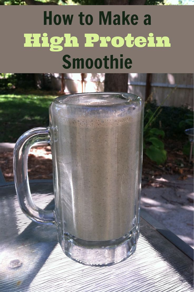 How to Make a High Protein Smoothie Homemade High Protein Smoothie Recipe | The Breakfast of Champions!