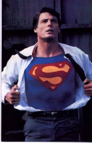"Christopher Reeve as Clark Kent / Kalel / Superman in ""Superman"""