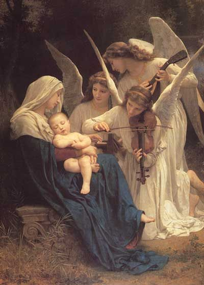 William-Adolph Bouguereau, Virgem com os anjos. Cantico dos anjos Song of the Angels 1881. French