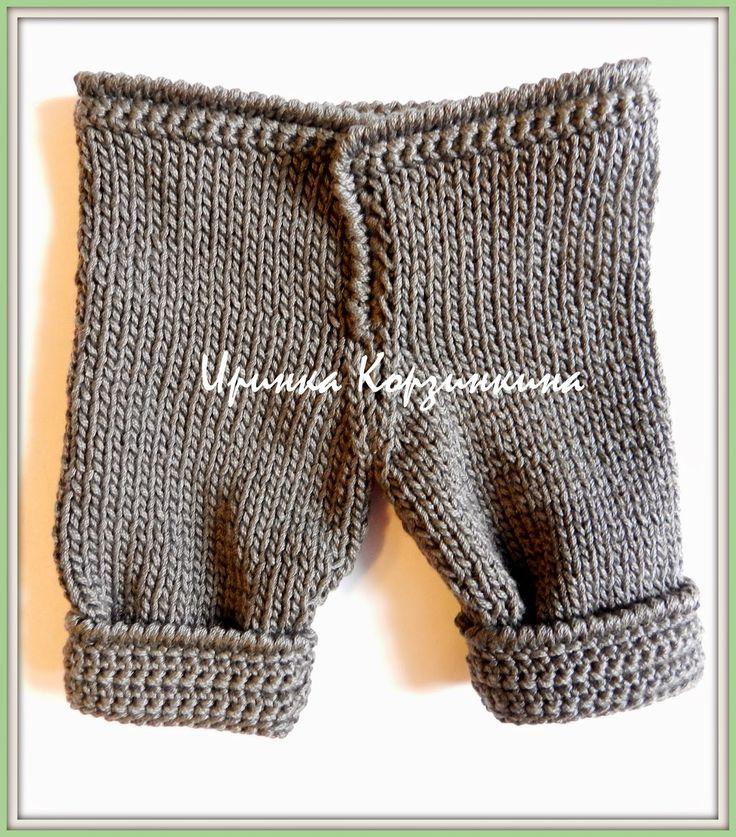 Вязаные штанишки для куклы. МК... - http://korzinkina.blogspot.com/2014/04/blog-post_3.html