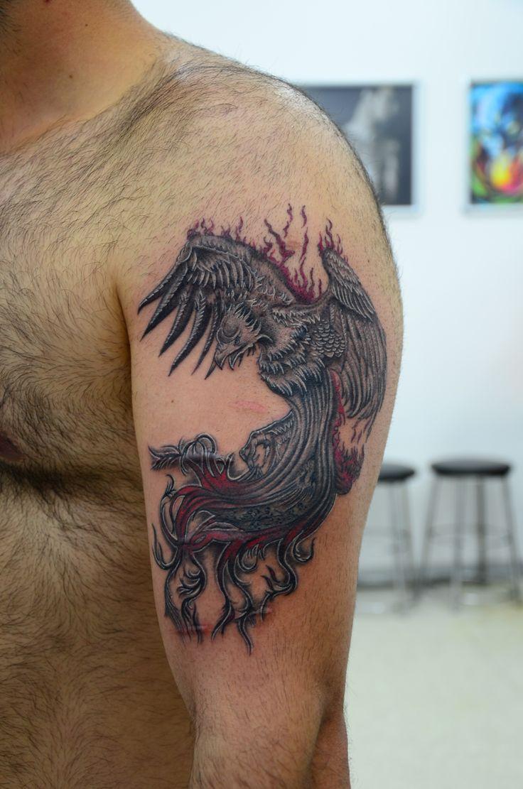 13 besten tattoo ph nix bilder auf pinterest vogel ph nix tattoo ideen und zeichnungen - Tattoo ideen arm ...