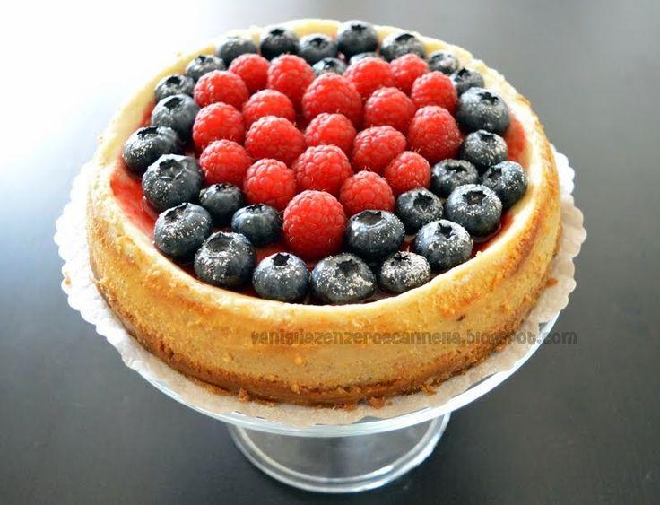 Vaniglia, Zenzero e Cannella: Cheesecake limone e vaniglia con frutti rossi