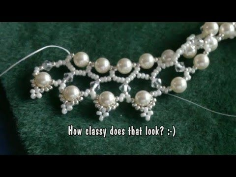 Beading Swarovski 6mm pearl and 4mm bicone necklace  ~ Seed Bead Tutorials