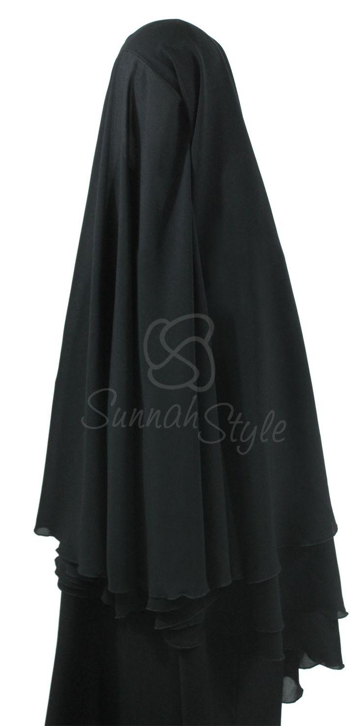 4-Layer Yemeni Khimar (Black) by Sunnah Style - #SunnahStyle #hijabstyle #khimar #yemen