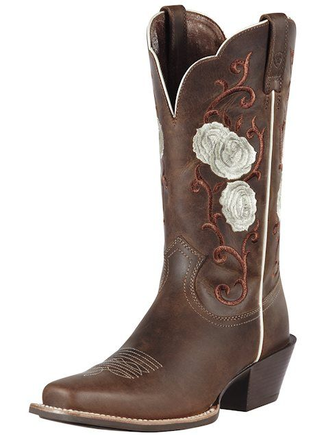 Ariat Boots Rosebud Distressed Brown cowboy boot 10010946 #weddingboots