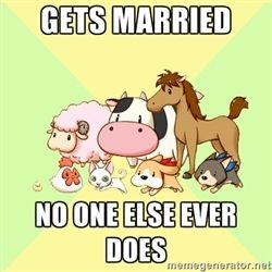 Harvest Moon - Gets married no one else ever does