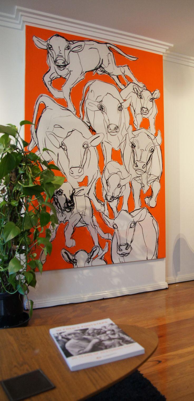 Marimekko Cow Wall Art