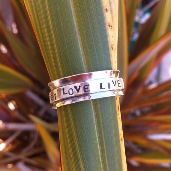 Personalised spinning meditation rings  add quotes by kirstie1978