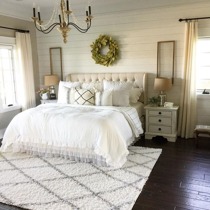 how lovely is this bedroom i just love that shiplap